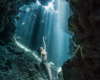 Cave Mermaid Zac Macaulay Underwater Photographer